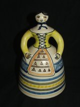 Vintage La Menora bell lady Talavera Pottery made in Spain in St. Charles, Illinois