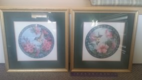 Set of 2 Framed Matted Pictures - Hummingbirds! in Westmont, Illinois