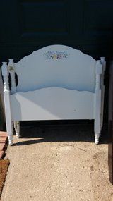 White twin bed frame in Fort Riley, Kansas
