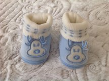 New Reindeer Baby Boy Velour Booties, size 0-9 months in Chicago, Illinois