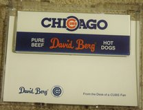 Collectors CUBS and David Berg Stationary Note Paper and Plastic Holder-NEW in Plainfield, Illinois