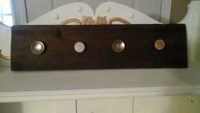 Vintage Barn wood Coat/Apron Rack New! Made by Crafter in Naperville, Illinois