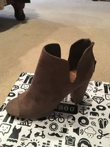 Taupe open toe boot in Fort Benning, Georgia