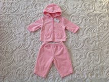 NEW WITH TAG VELOUR CHILDREN'S PLACE BABY GIRL DRESSY TOP AND PANTS SET, SIZE 3-6 MONTHS in Schaumburg, Illinois