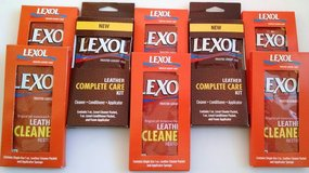 8 Lexol Leather Cleaner + Conditioner complete care 1oz single use sponge cleaning kits in Schaumburg, Illinois
