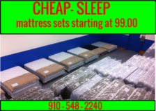 New Mattress Sets,still in plastic,starting at 99.00 in Wilmington, North Carolina