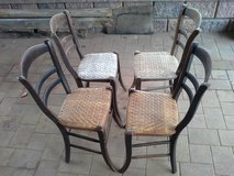 3 old german chairs with screen seating antique in Ramstein, Germany