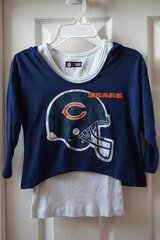 Girls Chicago Bears 2-n-1 Hooded Shirt Size 6/7, Quantity 2 in Plainfield, Illinois
