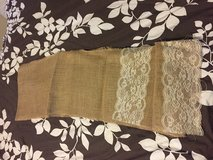 17 burlap runners with lace in Oswego, Illinois