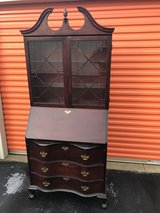 Serpentine 3 Drawer's Mahogany Chippendale Secretary in Cherry Point, North Carolina