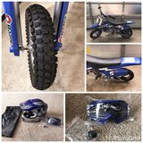RAZOR MX350 Dirt Rocet Electric Mottocross and Mottocross Helmet plus NEW googles. in Bolingbrook, Illinois