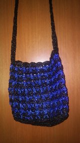 Plarn upcycled crossbody purse in The Woodlands, Texas