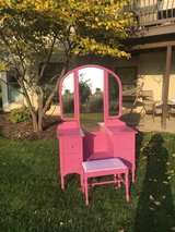 vanity Hot Pink has a matching bench and try fold mirror in Morris, Illinois