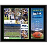 "SEATTLE SEAHAWKS XLVIII Commemoritive 12""x 15"" Plaque - NEW in Fort Lewis, Washington"