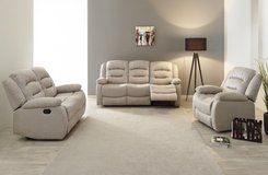 United Furniture - Derval - Sofa-Loveseat-Chair  includes delivery - CREAM or Dark Grey in Spangdahlem, Germany