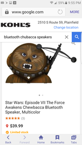 Bluetooth chewbacca speaker new in Lockport, Illinois