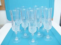 Cristal D'Arques Longchamp Wine/Champagne Glasses - L@@K! in Brookfield, Wisconsin