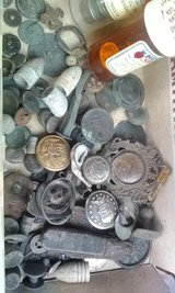 old WW2 relics. buttons , bullets, some coastguard, Confederate in Wilmington, North Carolina