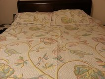 bed spread with two pillow cases. in Naperville, Illinois