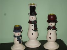 snowman candlesticks in St. Charles, Illinois