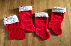 Christmas Stockings-Set of 4-Red-EUC in Plainfield, Illinois