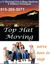 TOP HAT MOVING 915-269-5071 MILITARY %%%% in Fort Bliss, Texas