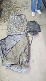 military sleeping bag in Fort Polk, Louisiana