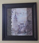 26x26 New York City Framed Bronze Painting in Perry, Georgia