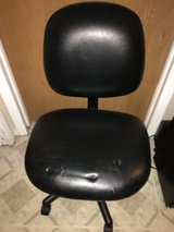 Desk Chair - Black Leather Look in Aurora, Illinois