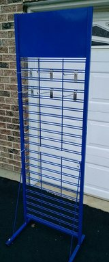 6ft tall Metal Merchandising Display Peghook Rack Stand in Naperville, Illinois
