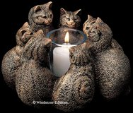 LIKE NEW! Large Windstone Circle of Cats Candle Holder in Fort Campbell, Kentucky
