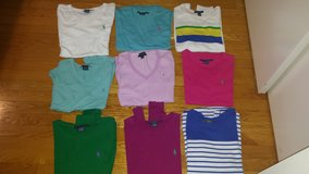lot of 9pc.ralph lauren and tommy hilfiger shirts-size m in Wilmington, North Carolina