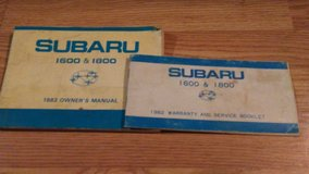 SUBARU 1982   1600 & 1800 Owners service manuals in Alamogordo, New Mexico