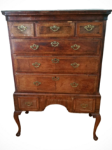 Antique 18th Century George II Burlwood Highboy in Orland Park, Illinois