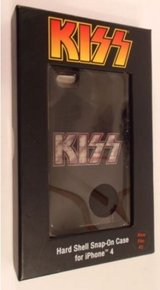 BRAND NEW!! Audiology KISS Logo Hardshell snap-on case for iPhone 4/4s in Warner Robins, Georgia