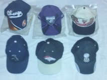 Lot of 6 hats: Bulls, Chicago Enforcers, White Sox, Bears, Denver Broncos, USA. in Lockport, Illinois