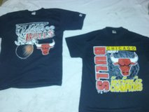 2 Chicago Bulls never worn t-shirts from 1991 in Lockport, Illinois