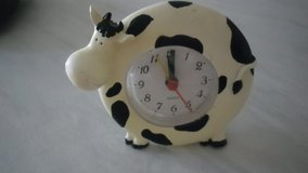 small cow clock in Lakenheath, UK