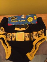 Batman baby boy outfit/ diaper cover with cape for photoshoots in Naperville, Illinois