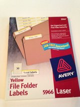 Avery 5966 File Folder Labels in Westmont, Illinois