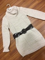 White Sweater Dress with belt size M in Okinawa, Japan
