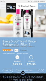 Refrigerator ice & water filter 5 new in Lockport, Illinois