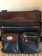 Brighton Cross Body Black/Brown Leather in Lockport, Illinois