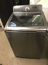 SAMSUNG TOP LOAD WASHER W/SINK 4.8 CU.FT PLATINUM LIKE NEW WORKS GREA in Fairfax, Virginia