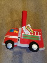 Easter fire truck basket nwt in Oswego, Illinois