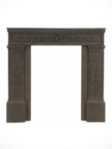 Antique Neoclassical Cast Iron Fireplace Surround in Orland Park, Illinois
