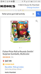 Fisher Price Roll a round gumballs in Lockport, Illinois