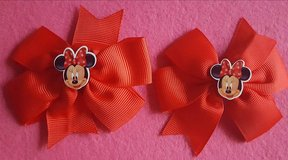 "3""  Minnie Mouse Boutique Hair Bows in El Paso, Texas"