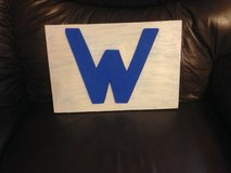 Cubs W wood plaque in St. Charles, Illinois