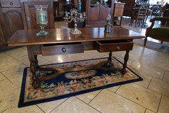 elegant French oak coffee table with 2 drawers in Spangdahlem, Germany